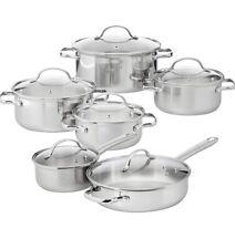 Amazon Basics 12 Piece Cookware Stainless Steel Set Read Description.