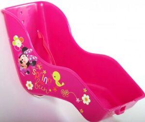 Kinder Fahrrad Puppensitz Disney Minnie Mouse Maus Mädchen Puppen Sitz Bow