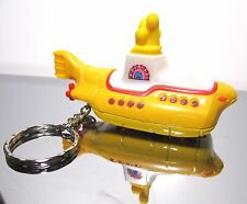 2016 Hot Wheels The Beatles Yellow Submarine Custom Key Chain Ring!