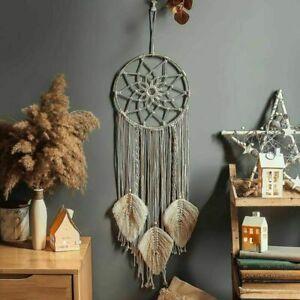 Boho Macrame Wall Hanging Tapestry Dream Catcher Woven Handmade Home Decor