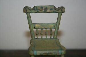 Early American 1800's Miniature Chair Sample Primitive Antique Folk Art Doll Toy