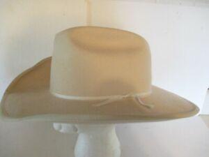 Smithbilt Calgary Canada Felt Western Cowboy Hat 7 3/8 Light Beige