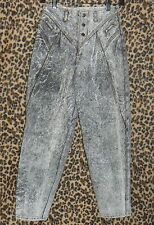 "Vintage 80s Bugle Boy 26"" waist Acid wash high-waist baggy pegged jeans INSANE"