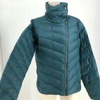 PATAGONIA - WOMEN'S SIZE LARGE - PROW TEAL GREEN FULL ZIP GOOSE DOWN JACKET COAT