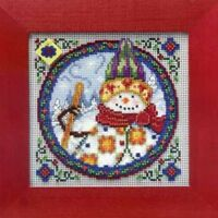 MILL HILL Counted Cross Stitch Beads Kit JIM SHORE Northern Snowman