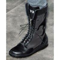 Y-3 X Adidas Yohji Yamamoto Women's Nylon Combat Boots Black Fall 2011 Size 5.5