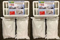 # 2x Raum Luftentfeuchter Box mit 4x 1200g Granulat Entfeuchter Raumentfeuchter