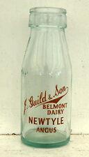 milk bottle lovely Guild of Newtyle, Angus Dairy SCOTLAND 1/2 pint