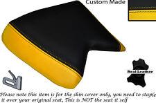 Amarillo Y Negro Custom encaja Cagiva Mito 125 cuartos Frontal De Cuero Funda De Asiento