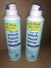 2 RITEAID FIRST AID 86% WITCH HAZEL SPRAY FOR FACE AND BODY-6 OZ EXP 5/19