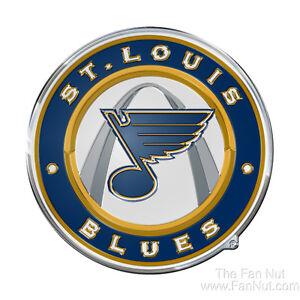 St Louis Blues Raised 3D COLOR Metal Auto Emblem Home Decal NHL Hockey Saint