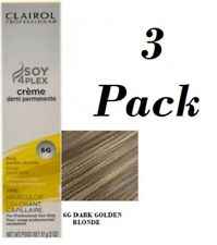 3 Clairol Professional Soy4Plex Permanent Hair color 6G Dark Golden Blonde
