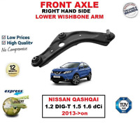 FRONT AXLE RIGHT LOWER WISHBONE ARM for NISSAN QASHQAI 1.2 1.5 1.6 dCi 2013->on