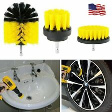 3Pcs Home Car Carpet Grout Power Scrubber Cleaning Drill Brush Tile Wall Tubs US