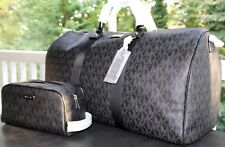 MICHAEL KORS Signature  XL Large Travel Duffle Bag & Toiletry Bag~Black  $458