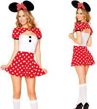 Ladies Minnie Mini Mickey Mouse Disney Costume Halloween Hen Party Fancy Dress