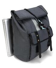 "BRAND NEW TARGUS GEO 15.6"" laptop Roll Top Backpack Grey/black mens womens"