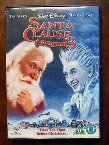 The Santa Clause 3 DVD Walt Disney Comedy Movie w/ Tim Allen