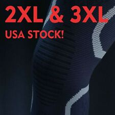 2XL-3XL Compression Knee Sleeve Brace Big & Tall/Arthritis/Joint Support/Patella
