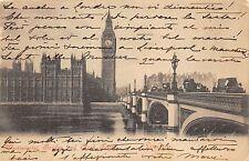 B90729 westminster bridge and clock tower  london  uk