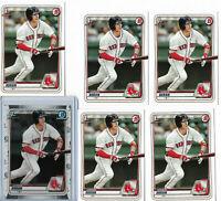 2020 BOWMAN 1ST PROSPECT JARREN DURAN LOT OF 6X CARDS BOSTON RED SOX RC