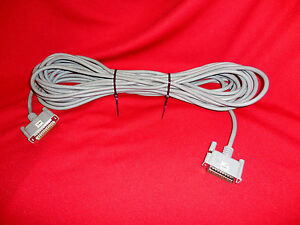 40 ft Serial Cable DB25 M-M -- Wired Pins 1 Thru 8 & 20 Only SERIAL CABLE