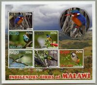 Malawi 2016 Vögel Kuckuck Bienenfresser Spatz Birds Bee Eater Kleinbogen MNH