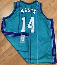 VTG Starter Signed W/COA Charlotte Hornets Anthony Mason NBA Jersey SZ 54