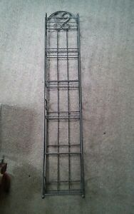 Heavy Metal Wire Storage Rack DVD CD Books Etc Scroll Design Shelf