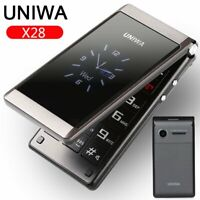 "Unlocked UNIWA 2.8"" Folding Flip Dual Sim Free Basic Simple Mobile Phone FM SOS"