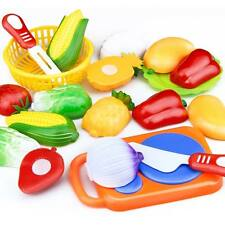 Fashion Plastic Fruit Vegetable Food Cutting Pretend Play Children Toys