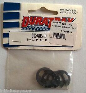 DURATRAX E-Clip 10.0mm (6) DTXQ0529 NEW RC Part