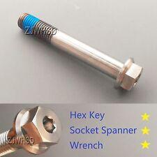 M12 x 1.75 x 80 Titanium Ti Screw Bolt Socket Cap Hexagon Hex Flange Head +Blue