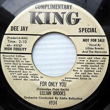 LILLIAN BROOKS & MOROCCOS promo dj bio 45 She Boodle Dee Boddle For Only You DMD