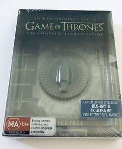 Game of Thrones: The Complete Eighth Season 8 (Blu Ray + 4K UHD) STEELBOOK NEW**