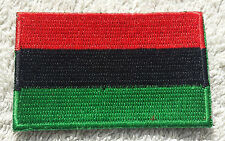 PAN-AFRICAN FLAG PATCH Embroidered Badge 4.5x6cm African American Black Power
