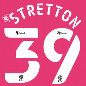2020 2021 OFFICIAL DERBY COUNTY THIRD NAME SET STRETTON 39 = PLAYER SIZE