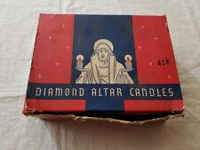 VINTAGE 1935 DIAMOND ALTAR CANDLES 12 PCS UNUSED IN ORIGINAL BOX