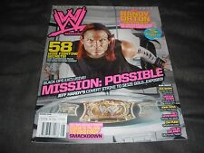 Wwe Magazine August 2008 Jeff Hardy Mickie James Cm Punk Big Show Wwf Wrestling
