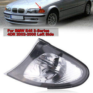 Left Side Turn Signal Corner Light Clear Lens for BMW 3 Series E46 2002-2005 4RD