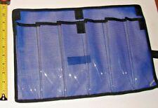 Vertical Jig Mesh Bag Saltwater Fishing Lure Tuna Dorado Wahoo 6 Pocket Blue