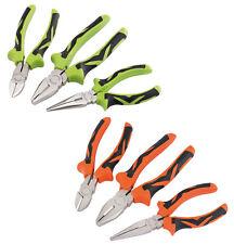 Draper 3Pc Soft Grip Combination Pliers Set Long Nose Cutters Nippers
