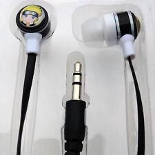 Anime Naruto Uzumaki Logo Stereo In-Ear Earphone Headphone For MP3 Phone PC New