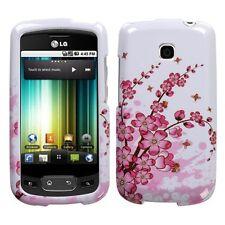 Spring Flower rubberized LG P509 OPTIMUS T phone T-Mobile case hard Cover NEW