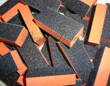 (1000pcs) 2 sided 80/100 Black Grit Orange Sanding Mini Small Buffer Blocks NEW!