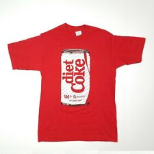 """Vintage 1980s Diet Coke Tshirt Size L 36"""" Chest Made In Usa"""