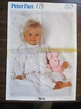 Peter Pan  Baby  cardigan & pants knitting pattern Leaflet no.P 675