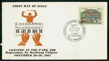 Mayfairstamps Philippines FDC 1981 Concert at Park Keyboard First Day Cover wwm_