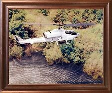 AH-1W Super Cobra Marine Helicopter Aviation Aircraft Wall Decor Framed Picture