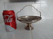Vtg Sterling silver EL SIL CO compote candy dish bon bon pedestal basket handle